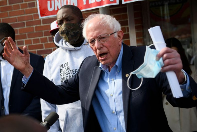 Bernie Sanders in Birmingham, Alabama