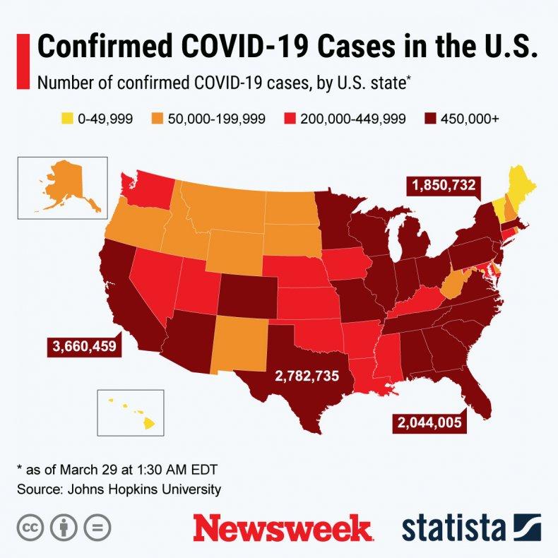 COVID-19 cases U.S.