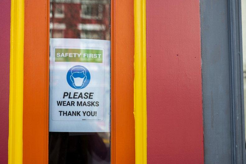 Please Wear Masks Sign