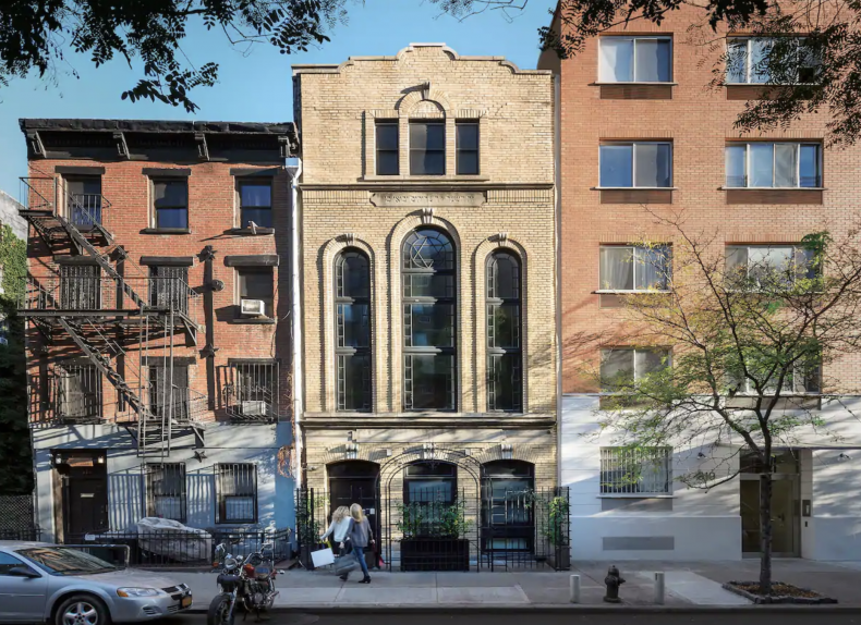 Stunning Synagogue Townhouse: New York
