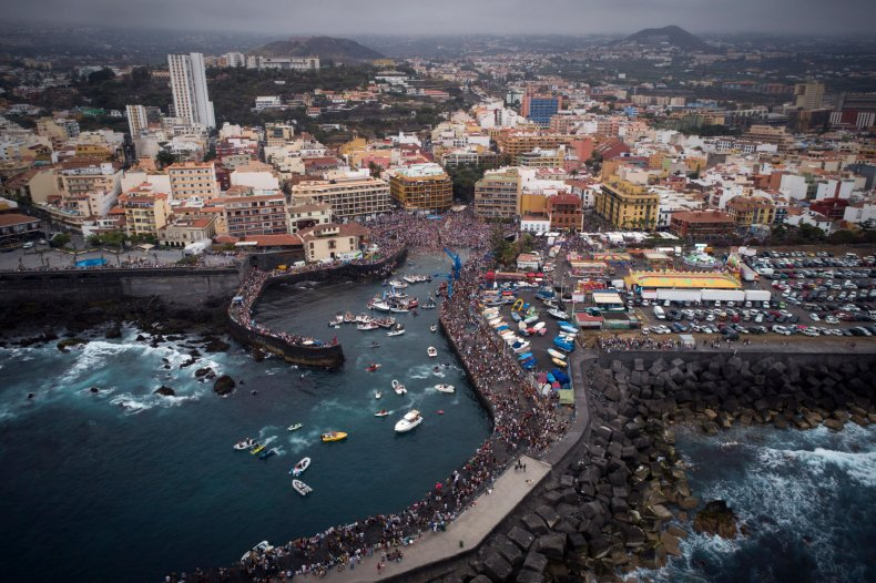 Aerial view of Canary Island of Tenerife