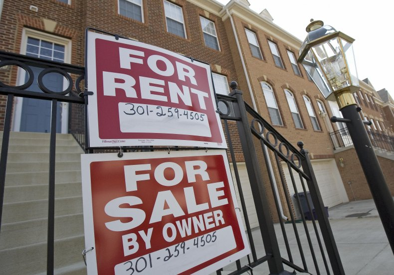 Red For Rent Sign
