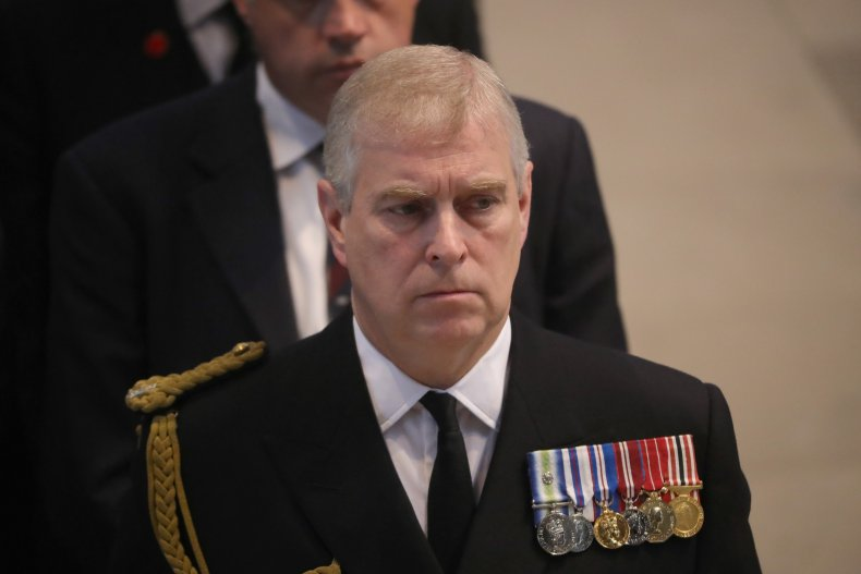 Prince Andrew at Battle of Somme Commemoration