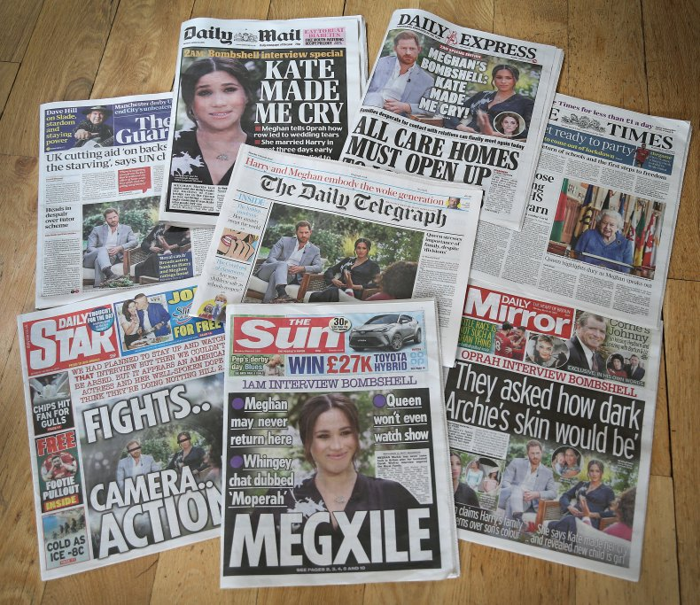 Meghan Markle, Prince Harry Oprah Interview Headlines
