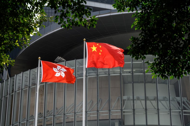 China, Hong Kong flags