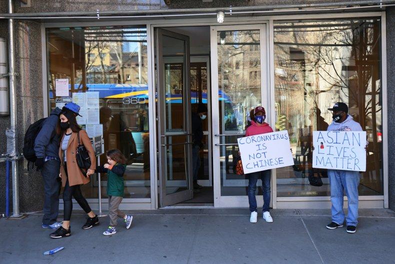 Anti-Asian attack Midtown Manhattan