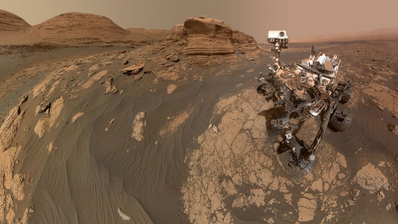 NASA Curiosity Mars rover selfie