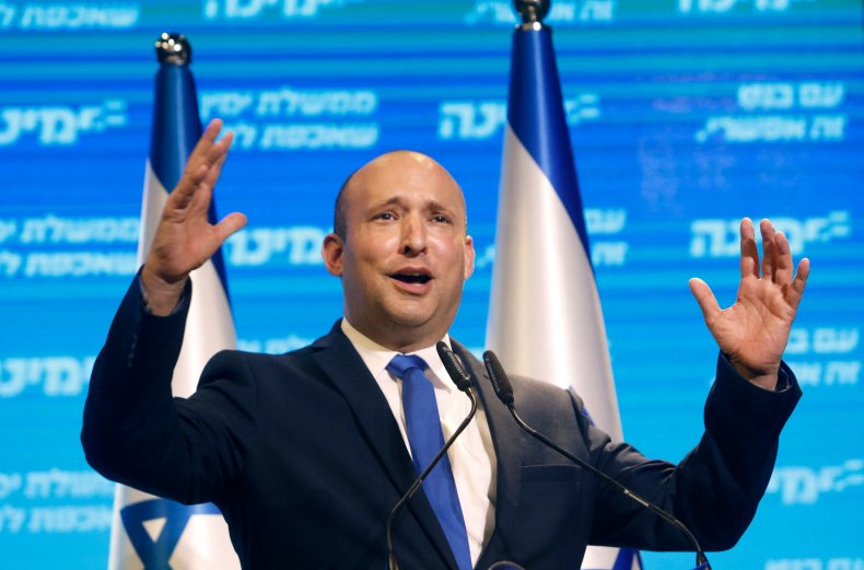 Yamina leader Naftali Bennett on March 24,