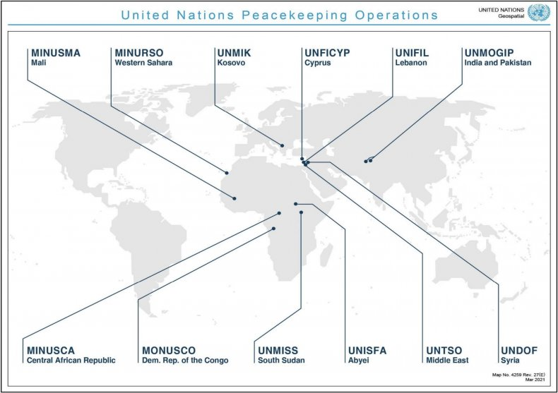 united, nations, peacekeeping, operations, map