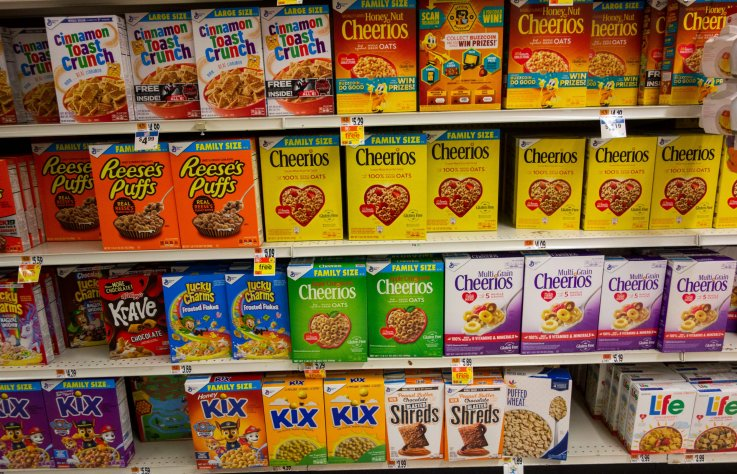 Cereal boxes New York 2019