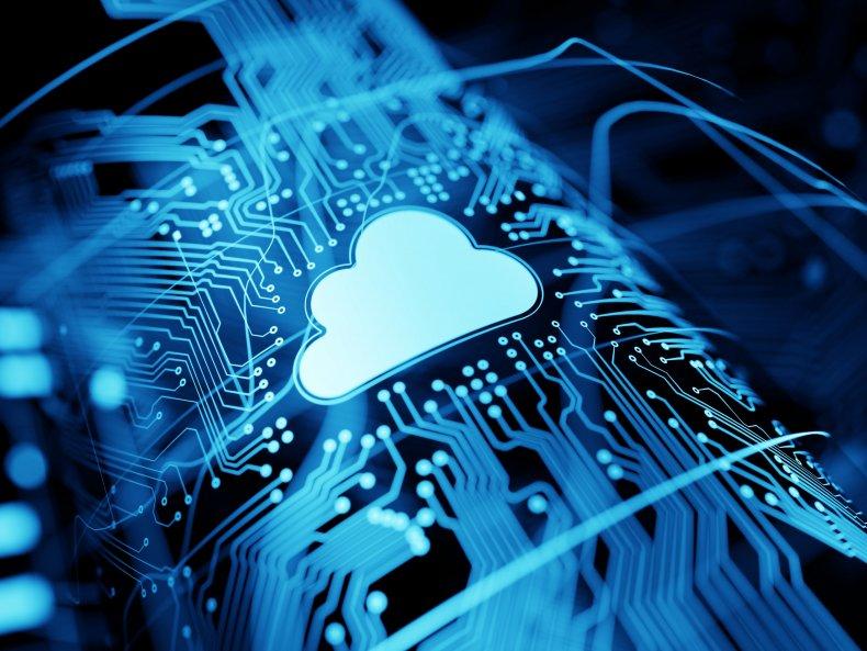 Image of cloud computing symbol