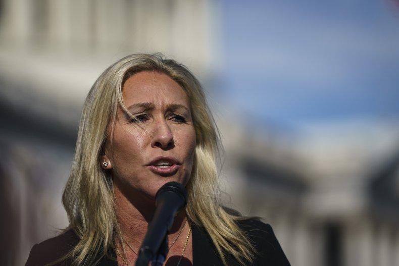 Marjorie Taylor Greene vaccine lawsuit discrimination