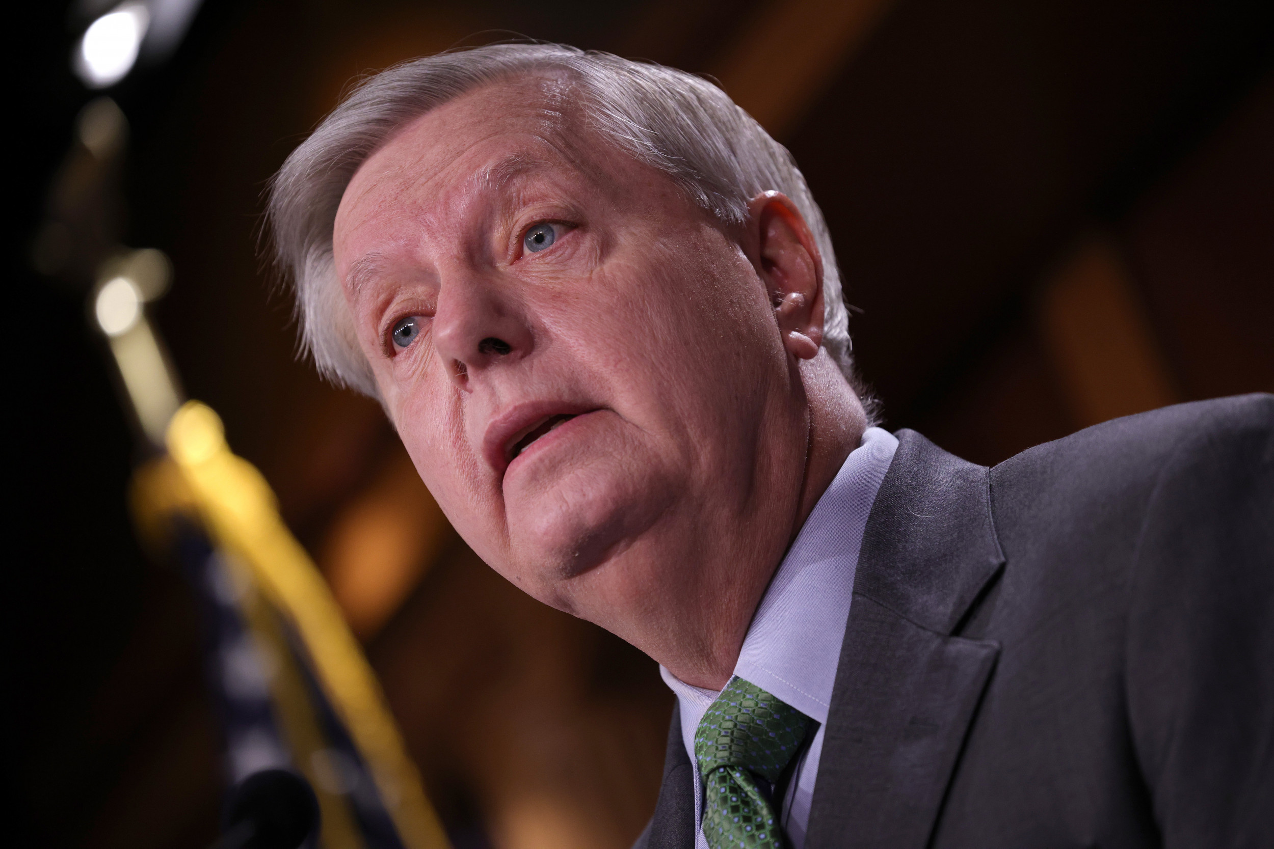 Lindsey Graham Shows Off Rifle Skills, Warns of 'Breakdown of Law and Order'