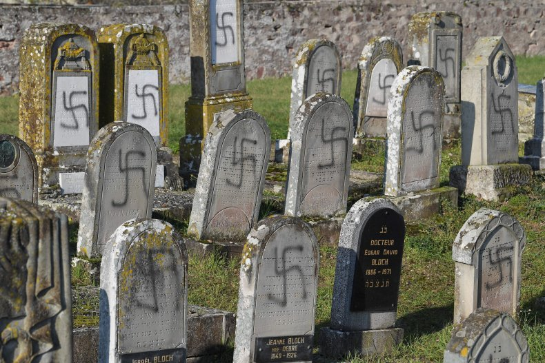 Anti-Semitic vandalism at a French cemetary