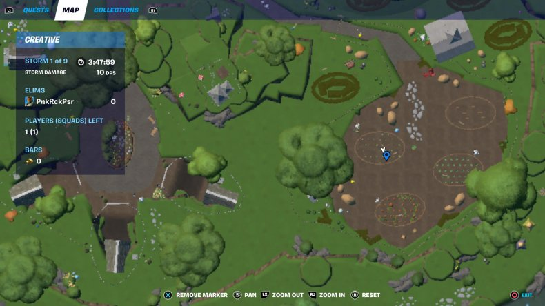 fortnite creative egg hunt location 1 map