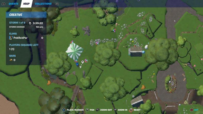 fortnite creative egg hunt location 4 map