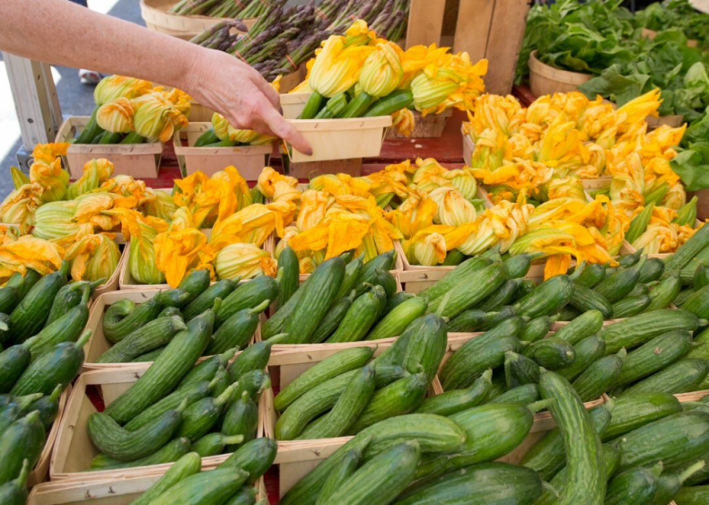 Most farmers' markets source products within 50 miles