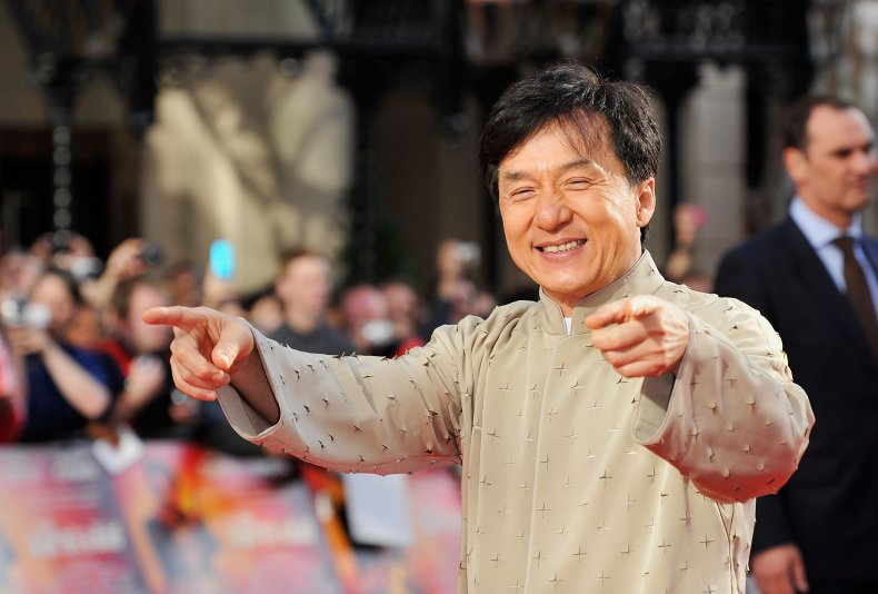 Jackie Chan at Karate Kid premiere