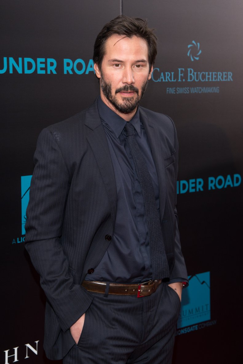 Keanu Reeves at John Wick premiere
