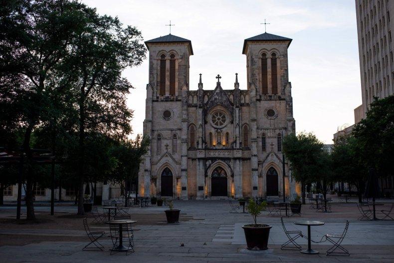 San Antonio Texas cathedral March 2020