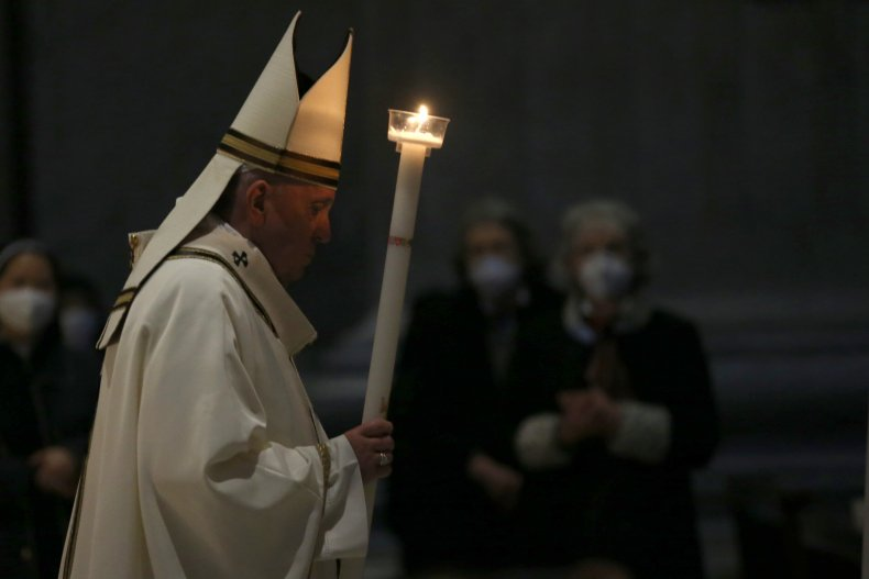 Francis Attends the 'Liturgy of the Light'