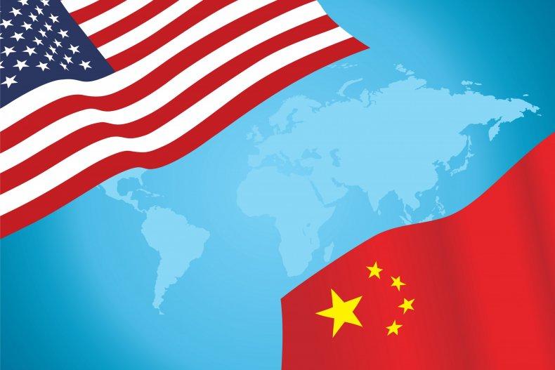 US China flags