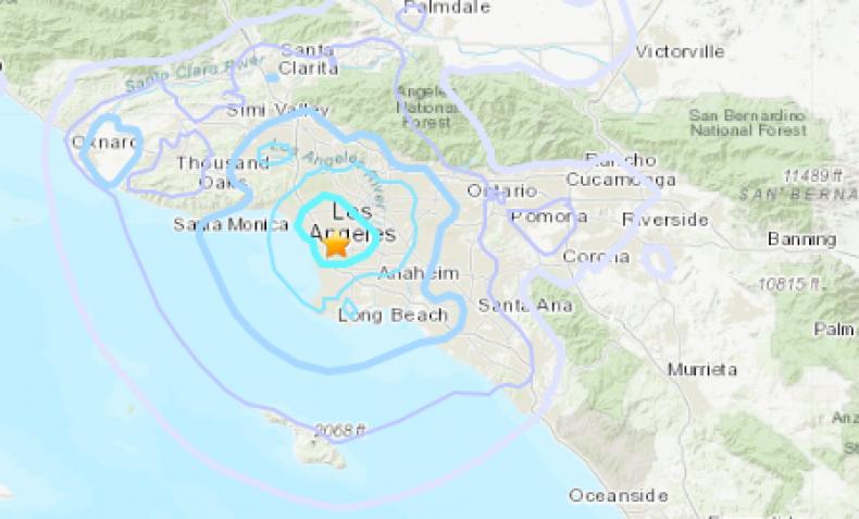 earthquake lennox los angeles california