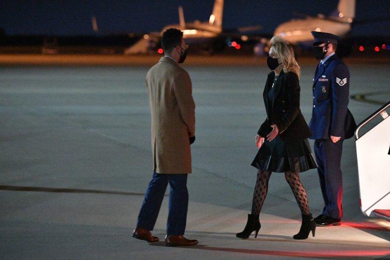 Jill Biden deplanes at Maryland airport