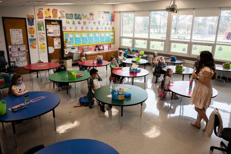 Elementary school classroom in Louisville, Kentucky