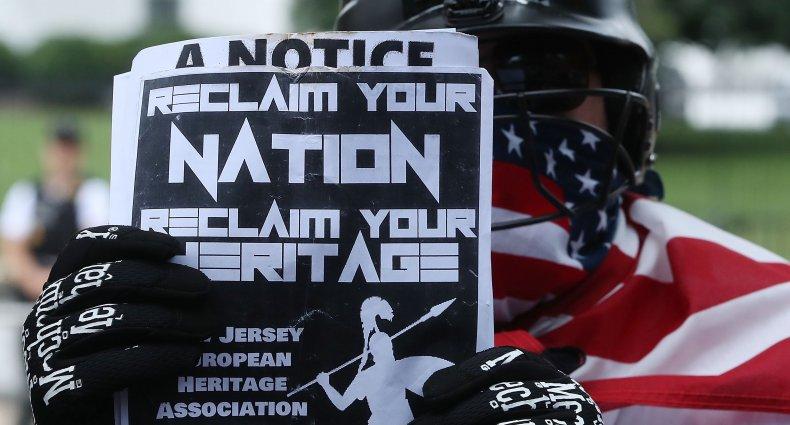 KKK rally Orange County White Lives Matter