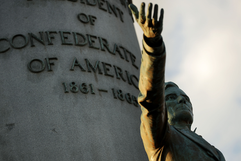 Activist Group 'White Lies Matter' Holds Jefferson Davis Monument Hostage