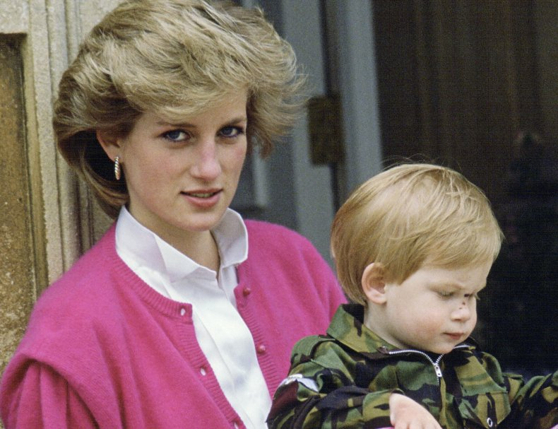 Princess Diana and Prince Harry at Highgrove