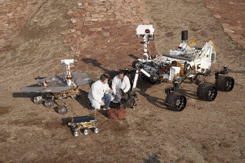 NASA Mars rovers