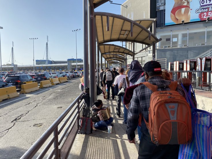 border pedestrian walkway San Ysidro