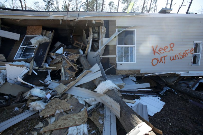 A Home Damaged by the 2019 Tornadoes