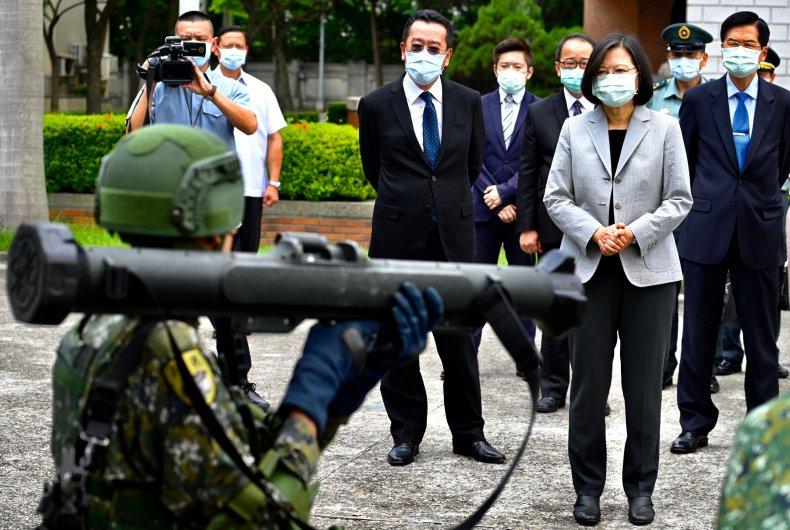Soldier Demonstrates Taiwanese Anti-Tank Rocket