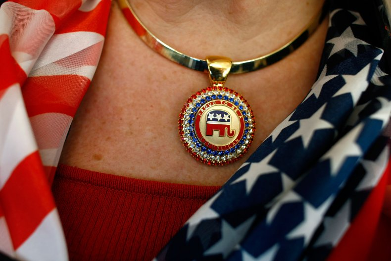 GOP elephant necklace at 2008 RNC