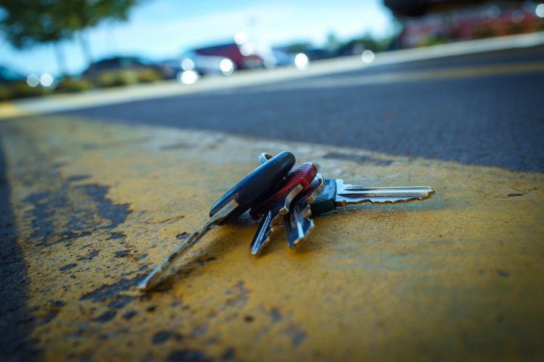 Keys on a roadside