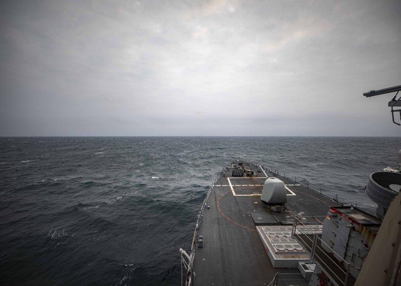 U.S. Navy Destroyer Sails Through Taiwan Strait