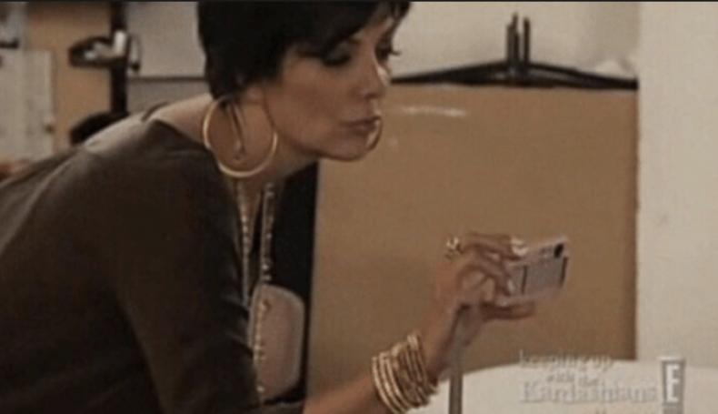 Kris Jenner at Kim's Playboy shoot