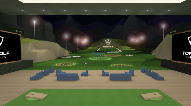 Topgolf VR game