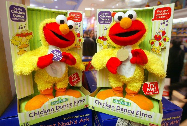 Elmo doll FAO Schwarz NYC 2002