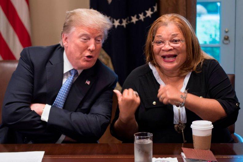 Alveda King and Donald Trump