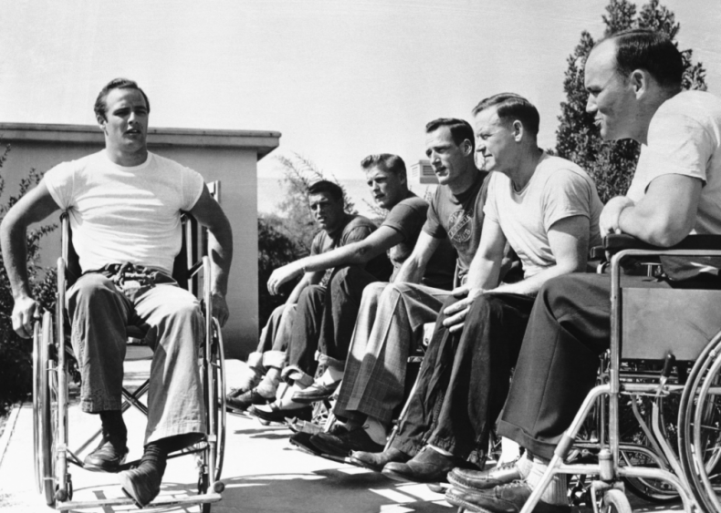 1950: Learning the role of a paralyzed veteran