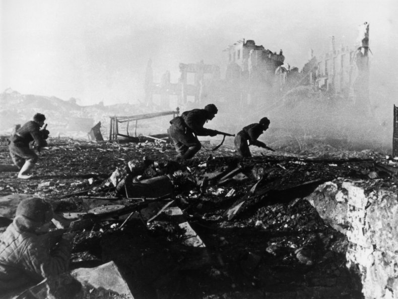 Red Army troops in Stalingrad