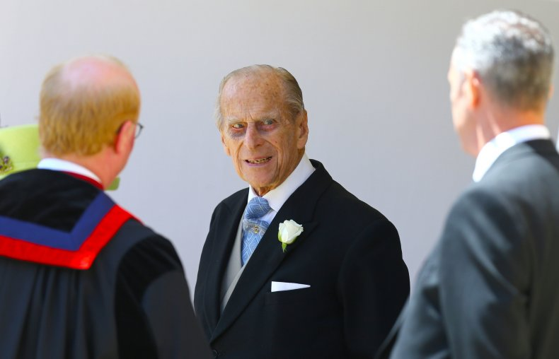 Prince Philip at St George's Chapel, Windsor