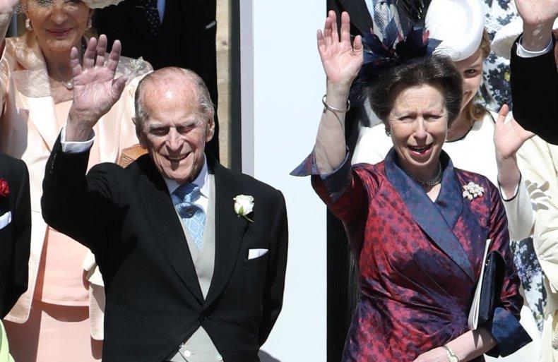 Prince Philip, Princess Anne at Royal Wedding