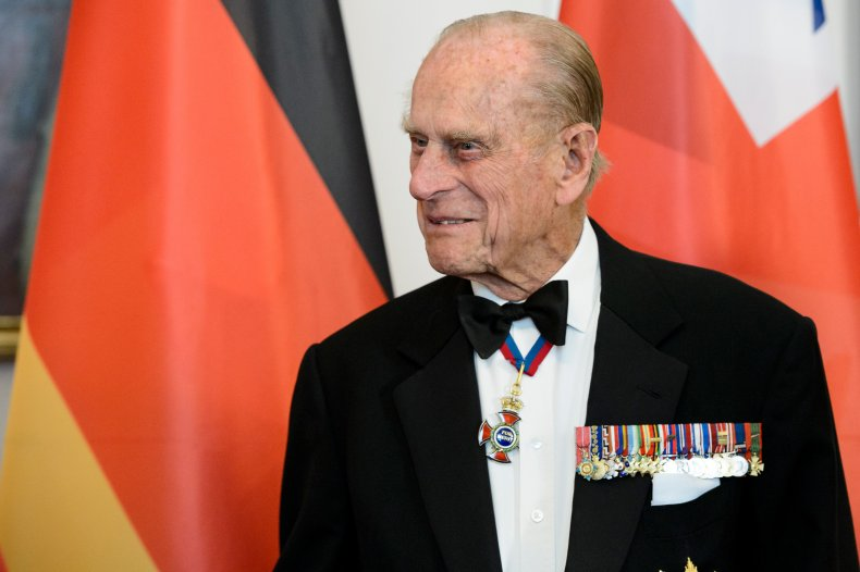 Prince Philip attends a state banquet