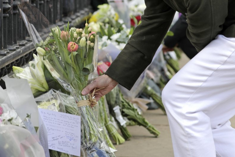 Buckingham Palace Flowers for Prince Philip's Death
