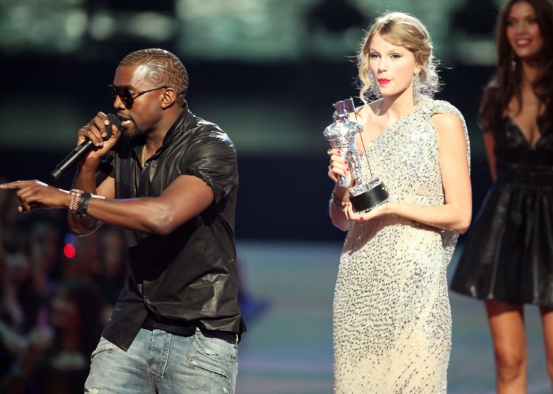 2009: Kanye West interrupts Taylor Swift at the MTV Video Music Awards